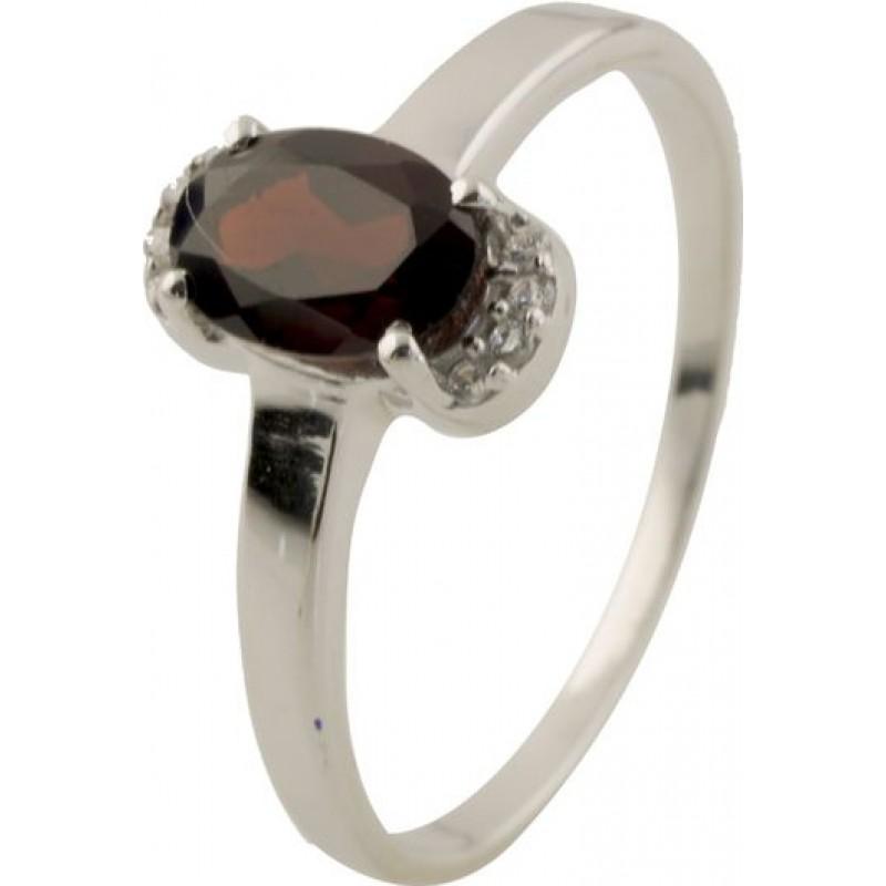 Серебряное кольцо SilverBreeze с натуральным гранатом (0504889) 17 размер