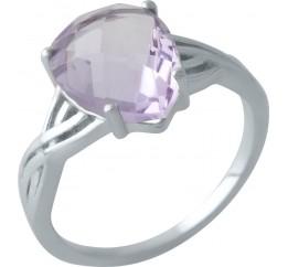 Серебряное кольцо SilverBreeze с натуральным аметистом (2007449) 18 размер