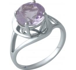 Серебряное кольцо SilverBreeze с натуральным аметистом (1983645) 19 размер