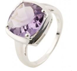 Серебряное кольцо SilverBreeze с натуральным аметистом (1140635) 18 размер