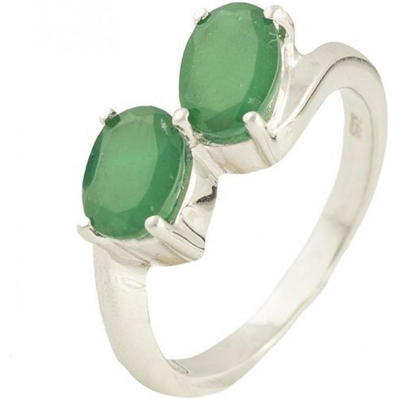 Серебряное кольцо SilverBreeze с натуральным агатом (1180686) 17 размер