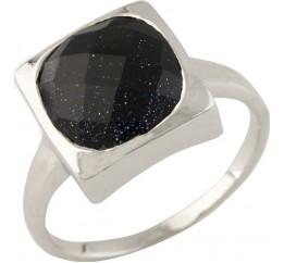 Серебряное кольцо SilverBreeze с натуральным авантюрином (0714295) 17 размер