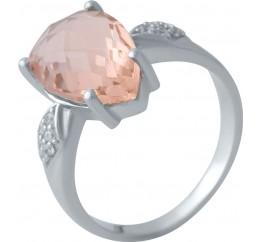 Серебряное кольцо SilverBreeze с морганитом nano (2021377) 18 размер