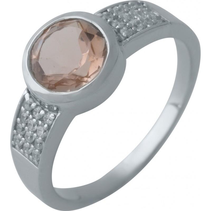 Серебряное кольцо SilverBreeze с морганитом nano (2003625) 17 размер