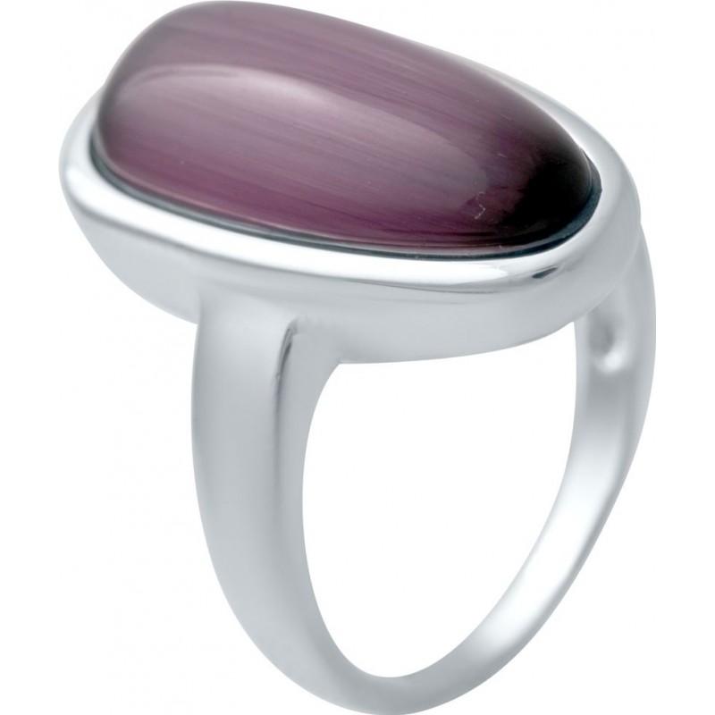Серебряное кольцо SilverBreeze с кошачим глазом (2035732) 17 размер