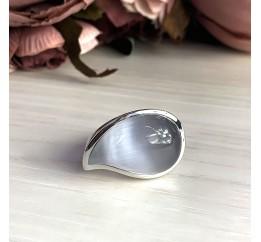 Серебряное кольцо SilverBreeze с кошачим глазом (2026549) 17.5 размер