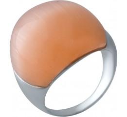 Серебряное кольцо SilverBreeze с кошачим глазом (2026464) 17.5 размер