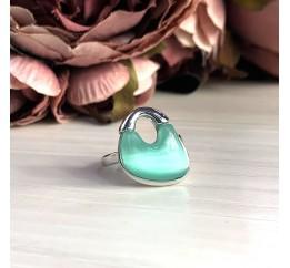 Серебряное кольцо SilverBreeze с кошачим глазом (2026419) 18 размер