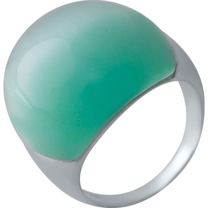 Серебряное кольцо SilverBreeze с кошачим глазом (2022817) 17 размер
