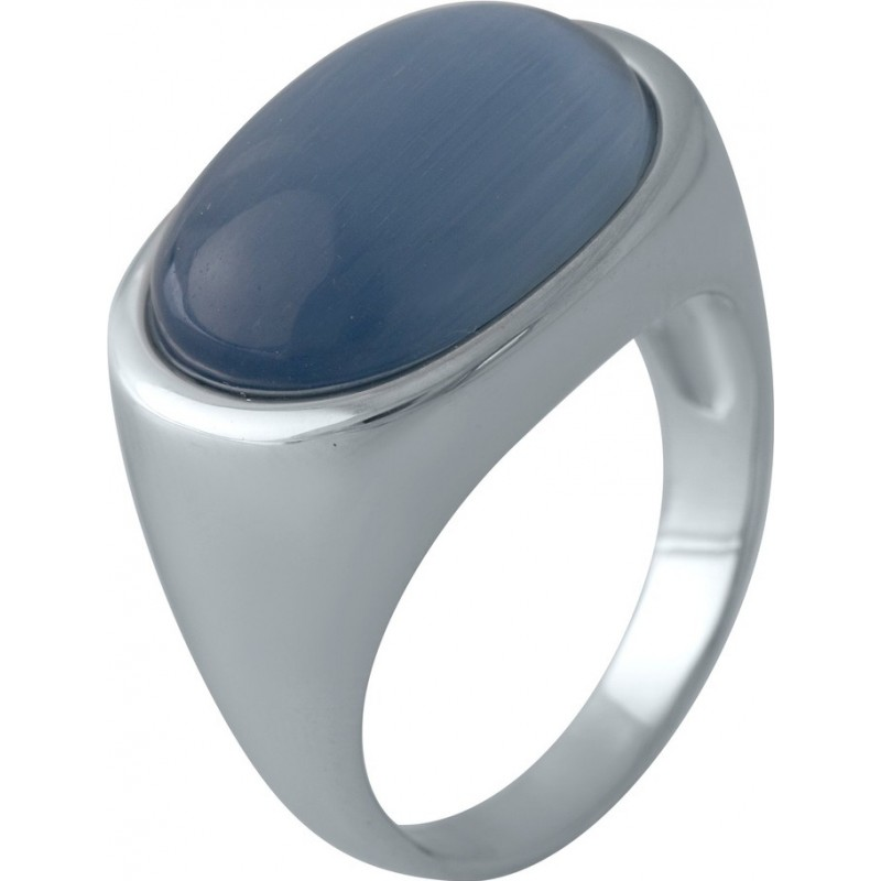 Серебряное кольцо SilverBreeze с кошачим глазом (2002512) 17.5 размер