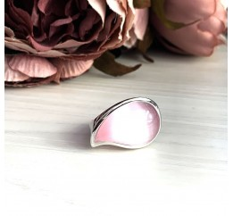 Серебряное кольцо SilverBreeze с кошачим глазом (1977309) 18.5 размер