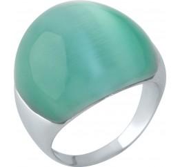 Серебряное кольцо SilverBreeze с кошачим глазом (1956793) 18.5 размер