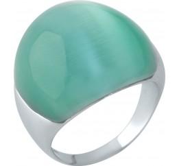 Серебряное кольцо SilverBreeze с кошачим глазом (1956793) 18 размер