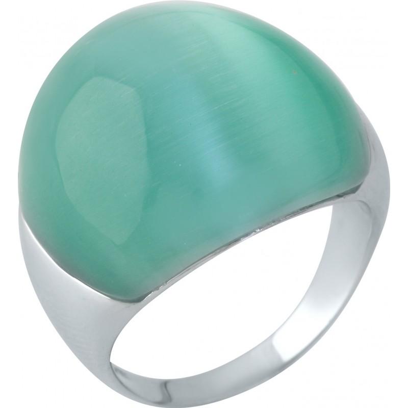 Серебряное кольцо SilverBreeze с кошачим глазом (1956793) 17.5 размер