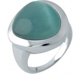 Серебряное кольцо SilverBreeze с кошачим глазом (1955680) 18 размер