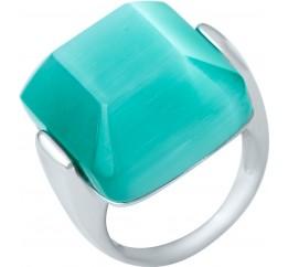 Серебряное кольцо SilverBreeze с кошачим глазом (1945063) 17.5 размер