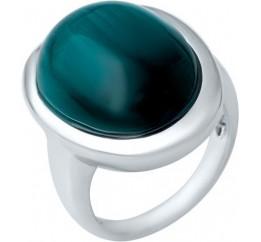 Серебряное кольцо SilverBreeze с кошачим глазом (1944820) 17 размер