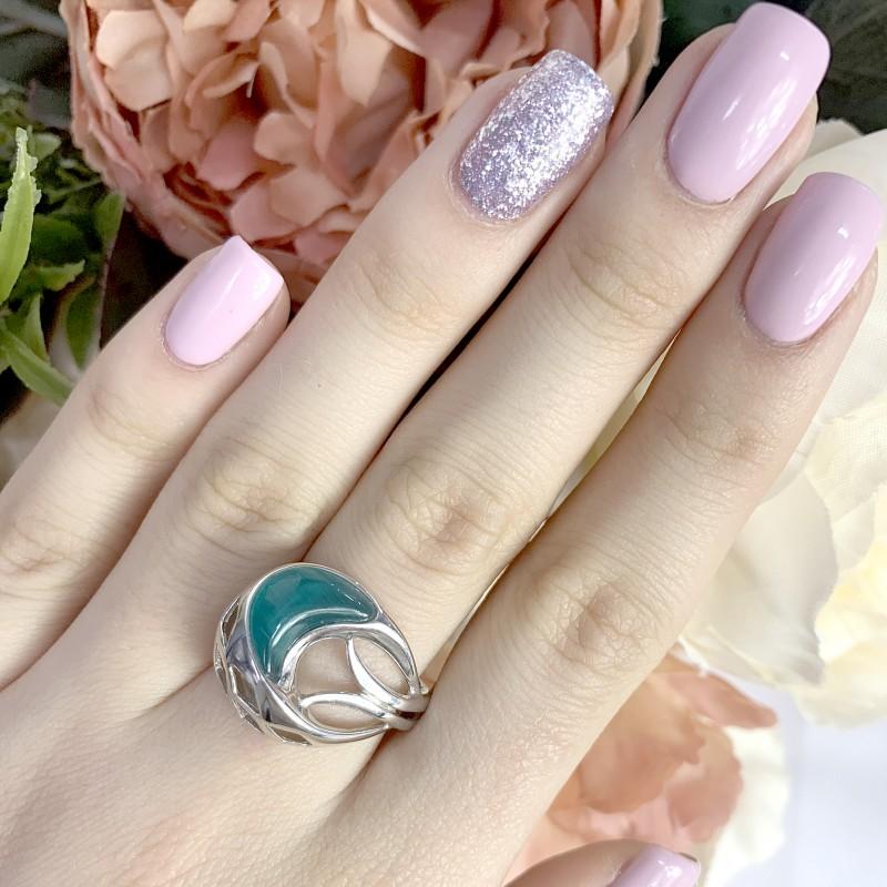 Серебряное кольцо SilverBreeze с кошачим глазом (1928981) 17.5 размер
