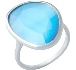 Серебряное кольцо SilverBreeze с кошачим глазом (1927564) 17.5 размер