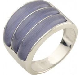 Серебряное кольцо SilverBreeze с кошачим глазом (1155301) 17 размер