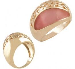 Серебряное кольцо SilverBreeze с кошачим глазом (0873602) 17 размер