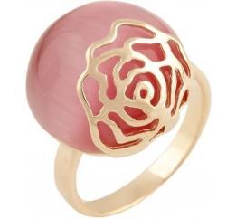 Серебряное кольцо SilverBreeze с кошачим глазом (0464014) 17.5 размер