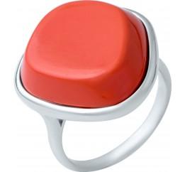 Серебряное кольцо SilverBreeze с кораллом (1944899) 16.5 размер