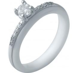 Серебряное кольцо SilverBreeze с керамикой (2032571) 18.5 размер