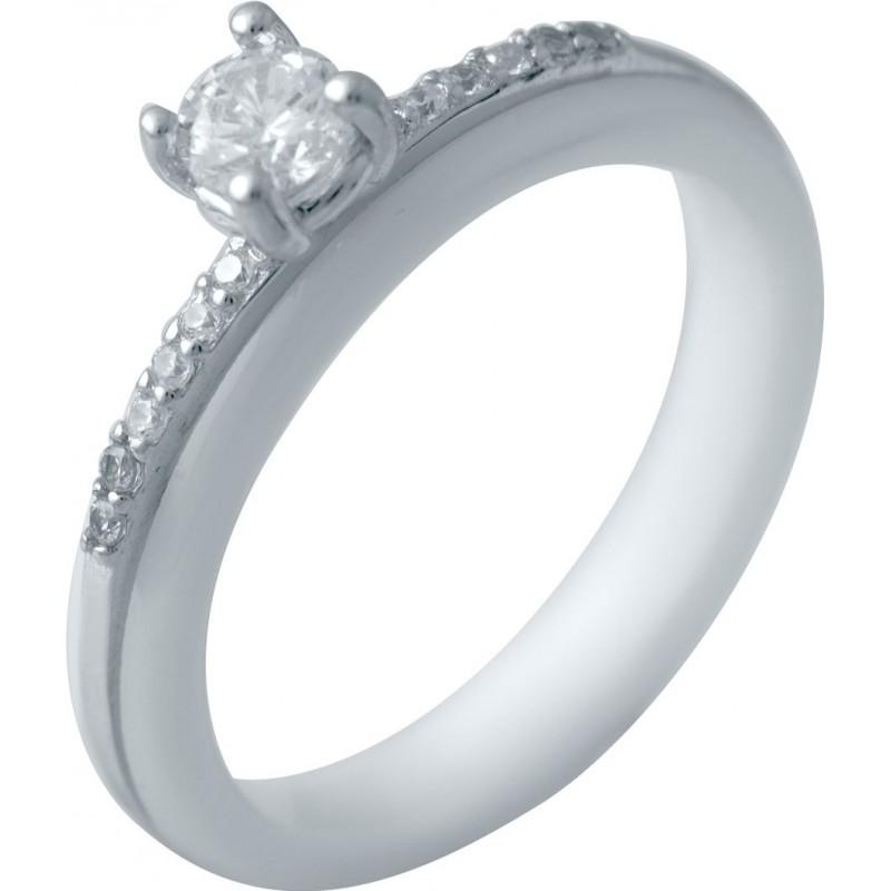 Серебряное кольцо SilverBreeze с керамикой (2032571) 16.5 размер
