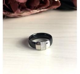 Серебряное кольцо SilverBreeze с керамикой (2032564) 16 размер