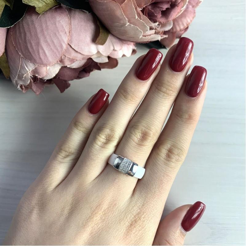 Серебряное кольцо SilverBreeze с керамикой (2032557) 16.5 размер