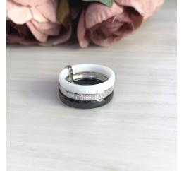 Серебряное кольцо SilverBreeze с керамикой (2021346) 18 размер