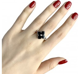 Серебряное кольцо SilverBreeze с керамикой (1982341) 19 размер