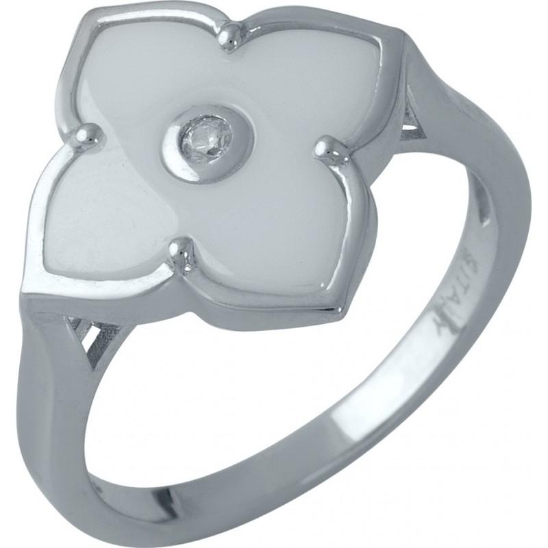 Серебряное кольцо SilverBreeze с керамикой (1982303) 19 размер
