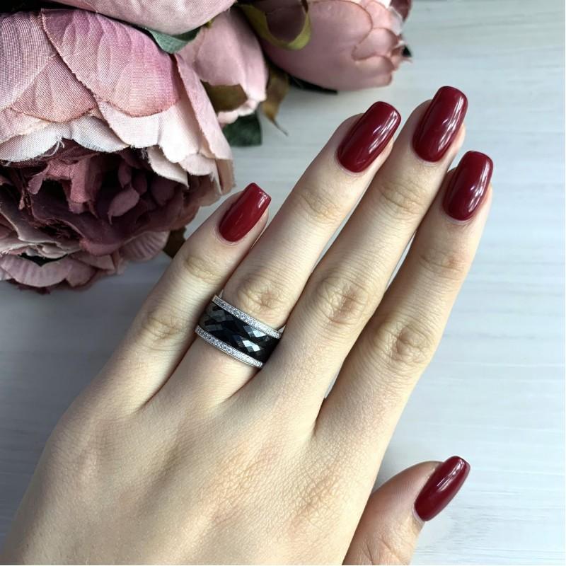 Серебряное кольцо SilverBreeze с керамикой (1978078) 15.5 размер