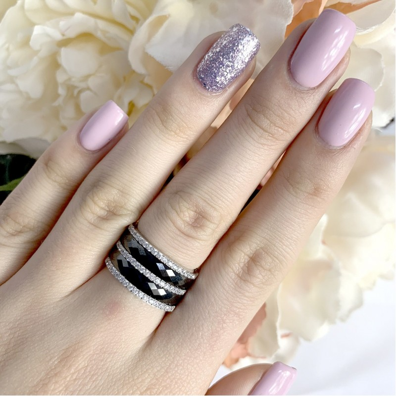 Серебряное кольцо SilverBreeze с керамикой (1903889) 15.5 размер