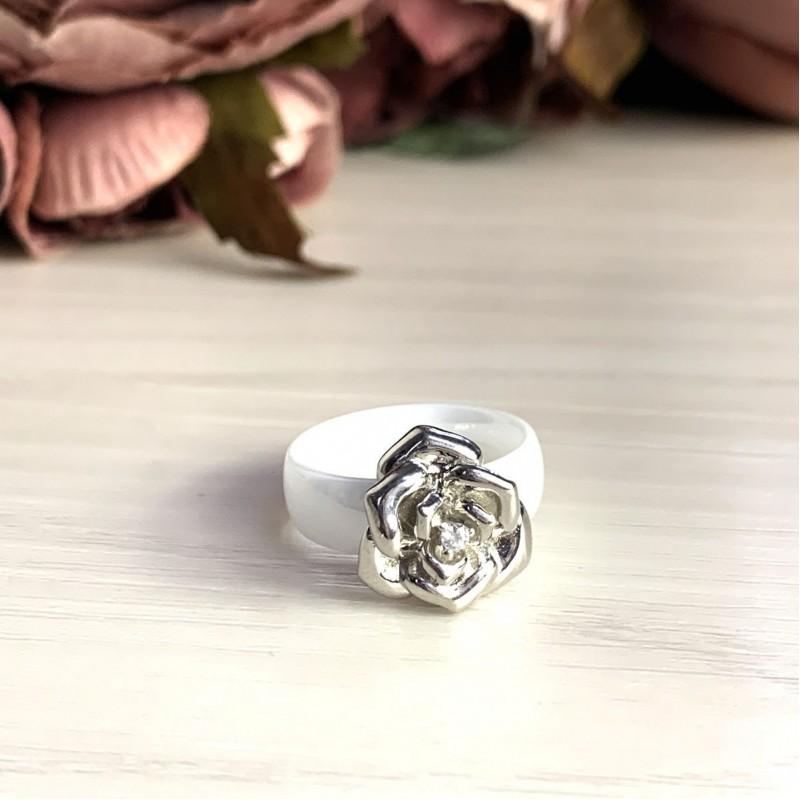 Серебряное кольцо SilverBreeze с керамикой (1734452) 18.5 размер