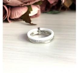 Серебряное кольцо SilverBreeze с керамикой (1577196) 16.5 размер