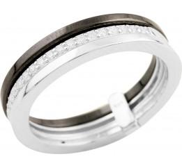 Серебряное кольцо SilverBreeze с керамикой (1523841) 19 размер