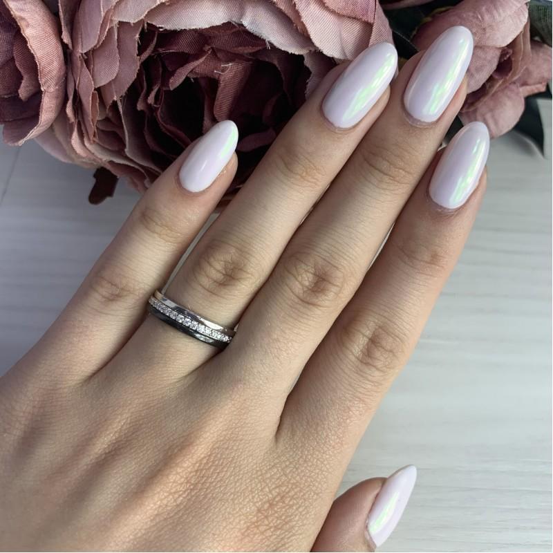 Серебряное кольцо SilverBreeze с керамикой (1523841) 17 размер
