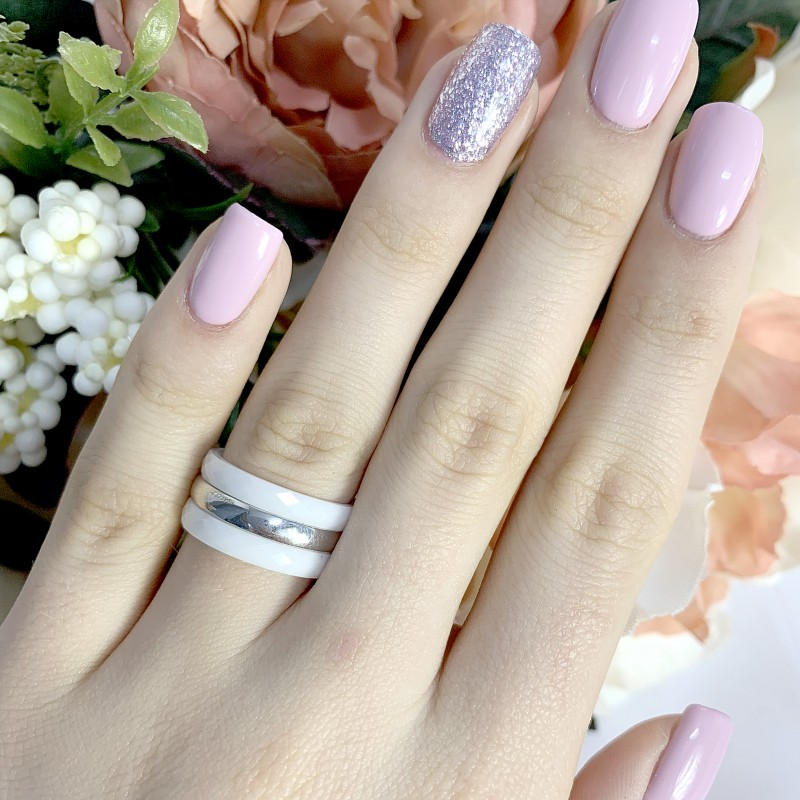 Серебряное кольцо SilverBreeze с керамикой (1223918) 16.5 размер