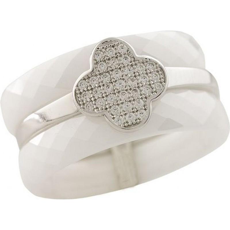 Серебряное кольцо SilverBreeze с керамикой (1223741) 18 размер
