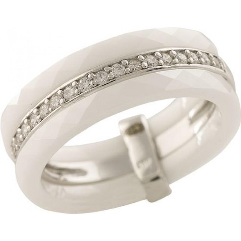 Серебряное кольцо SilverBreeze с керамикой (1223666) 18.5 размер