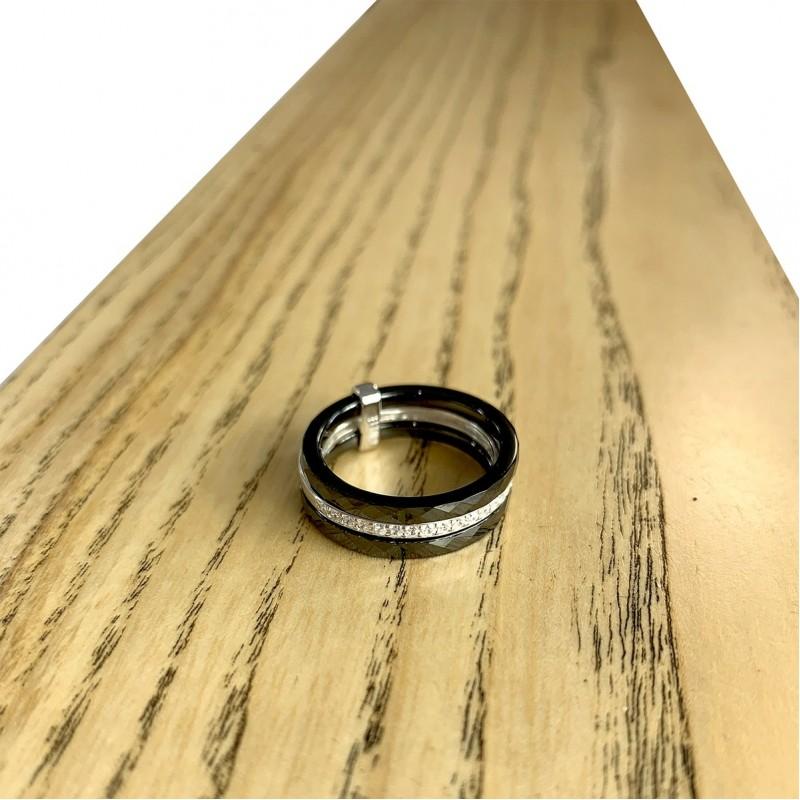 Серебряное кольцо SilverBreeze с керамикой (1223635) 19 размер