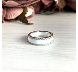 Серебряное кольцо SilverBreeze с керамикой (1214459) 18 размер