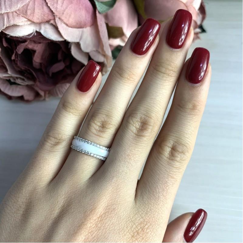 Серебряное кольцо SilverBreeze с керамикой (1214459) 17 размер