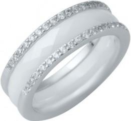 Серебряное кольцо SilverBreeze с керамикой (1214459) 16.5 размер