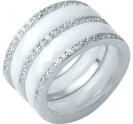 Серебряное кольцо SilverBreeze с керамикой (1214299) 18 размер