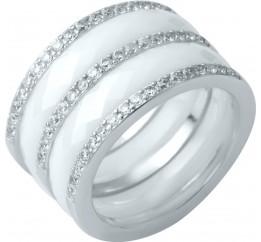 Серебряное кольцо SilverBreeze с керамикой (1214299) 17 размер