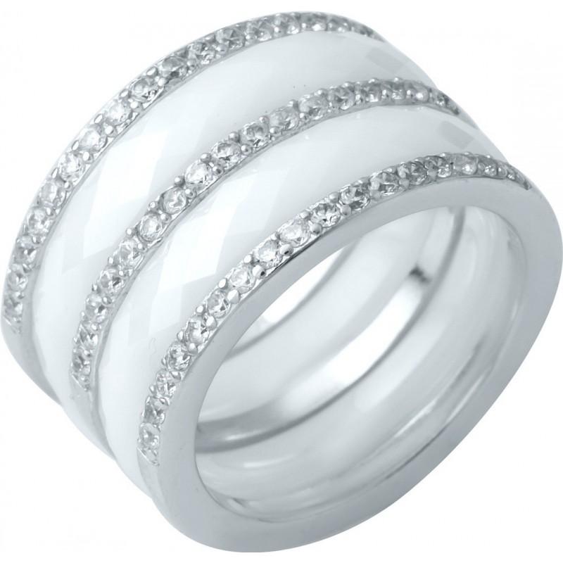 Серебряное кольцо SilverBreeze с керамикой (1214299) 16.5 размер